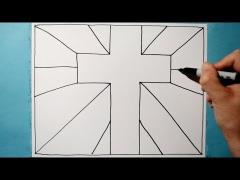 Cool 3D Cross Pattern / Line Illusion Drawing / Daily Art Therapy / Day 0112