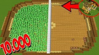 10.000 CREEPERS VS 1 OCELOT (MINECRAFT MOONKASE)