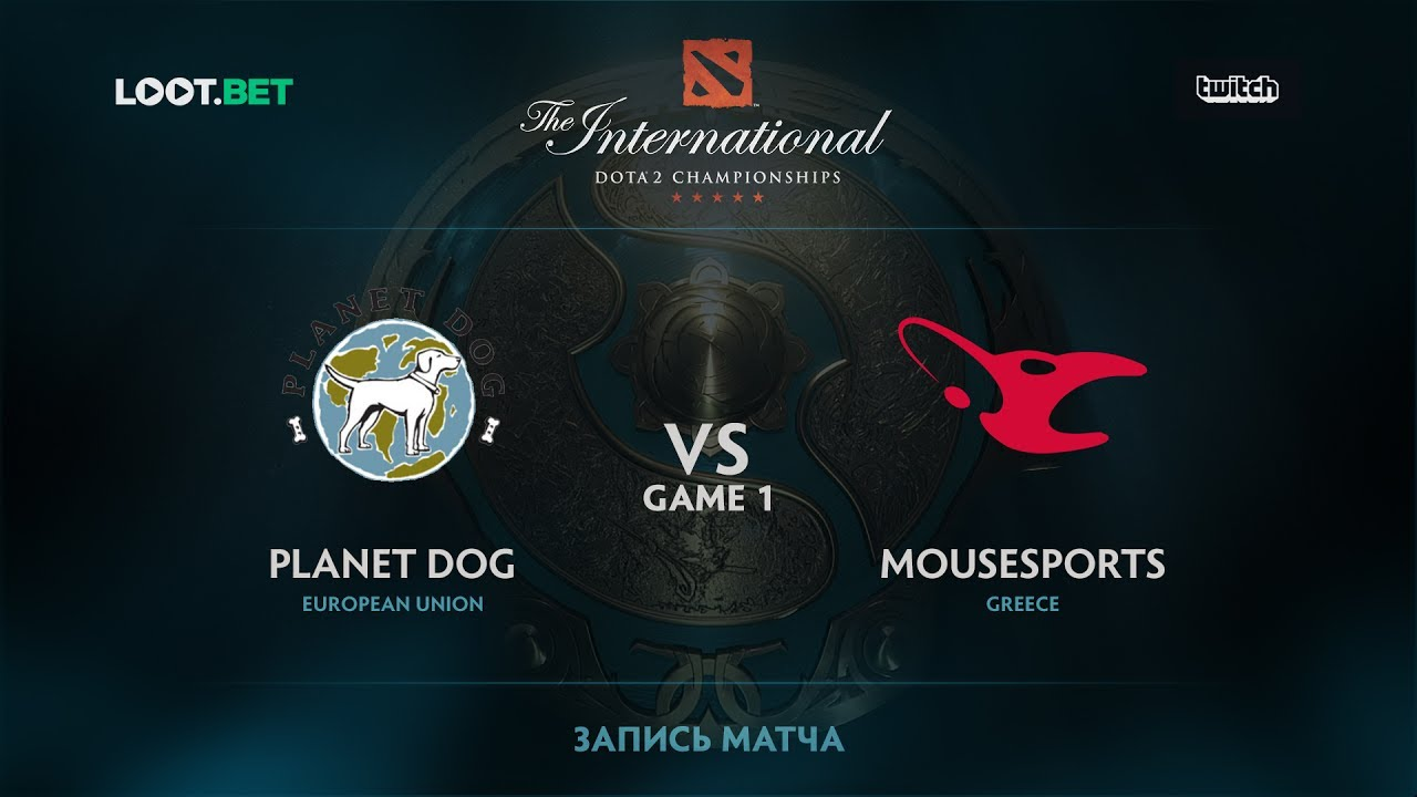 Planet Dog vs mousesports, Game 1, The International 2017 EU Qualifier