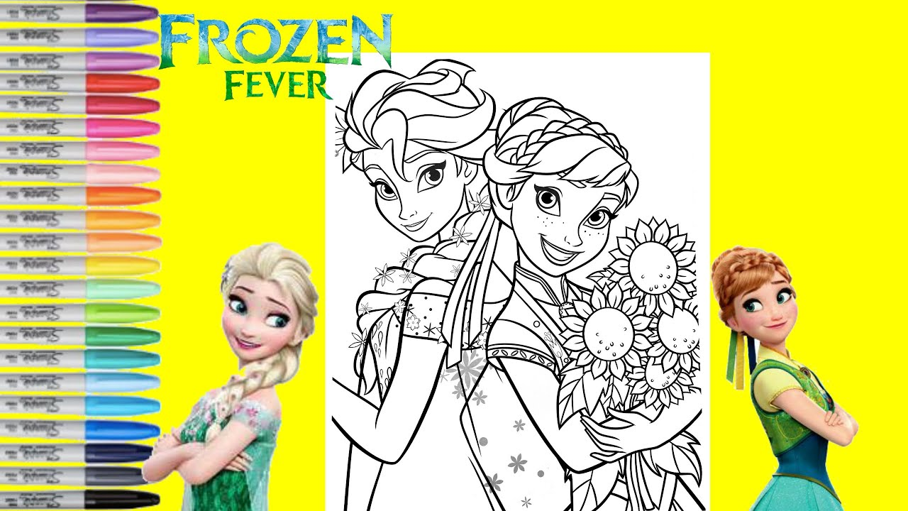 - Disney Frozen Coloring Book Page Anna And Elsa Disney Princess