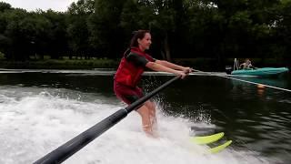 Initiation au ski nautique sur la Charente à Angoulême