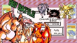 Pokemon Red/Blue/Yellow Wi-fi Battle Yus v.s. Manu【OU】Charizard VS The World!