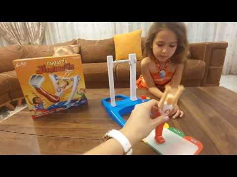 Настольная игра Хасбро😄ГИМНАСТ.Видео для детей.Игра для детей.