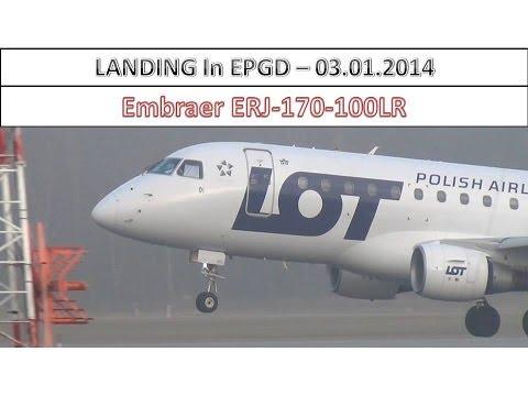 Embraer ERJ-170-100LR (PLL LOT) | Landing in EPGD, GDN | 03.01.2014