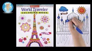 Design Originals World Traveler Adult Coloring Book Taj Mahal - Family Toy Report