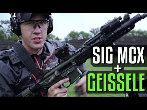 Sig MCX with Geissele Super MCX SSA Trigger