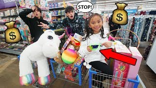 Download Little Sister Steals Our Credit Card And Spends $5,000 On Toys! Mp3 and Videos