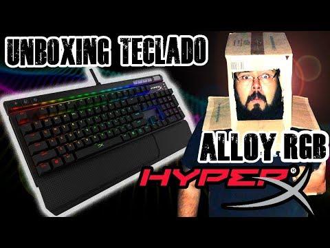 Unboxing Teclado HYPERX ALLOY ELITE RGB Gaming | con bean3r