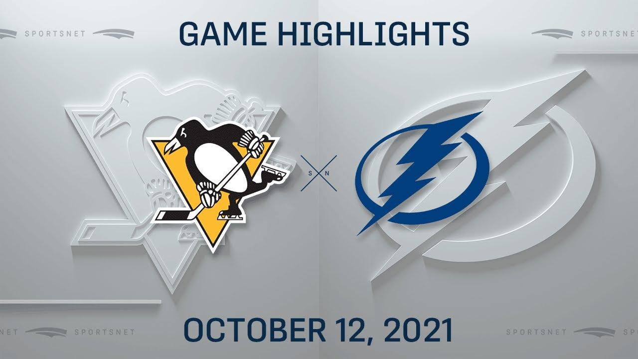 Download NHL Highlights   Penguins vs. Lightning - Oct. 12, 2021