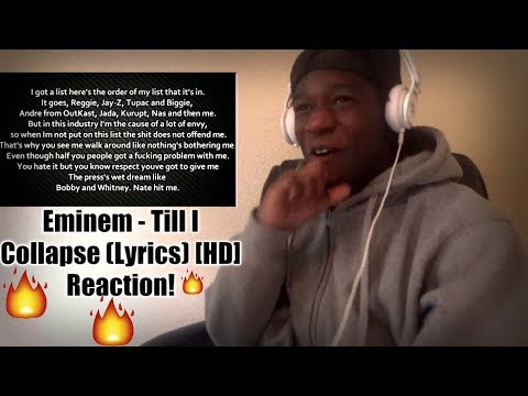 Eminem - Till I Collapse (Lyrics) [HD] Reaction!