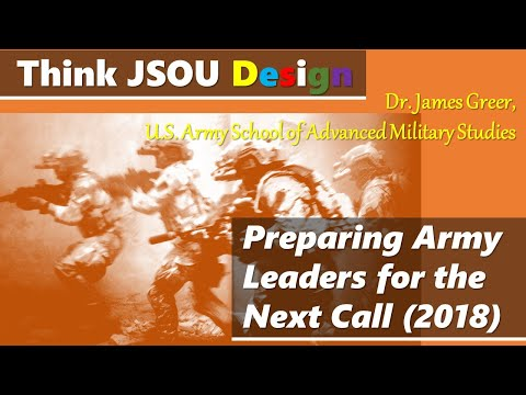 "USSOCOM JSOU ""Explaining the 21st Century Military Design Movement"", Dr. James Greer"