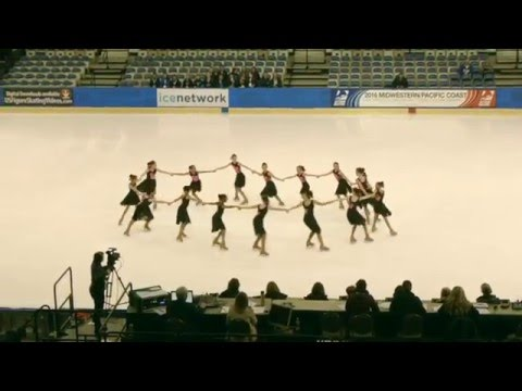 Tremors Pre-Juvenile at US Figure Skating Pacific Coast Synchro Sectionals 2016