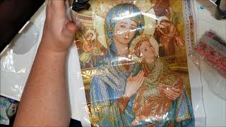 Diamond Painting Unboxing and First Impression - drd on Wish - THE VIRGIN MARY
