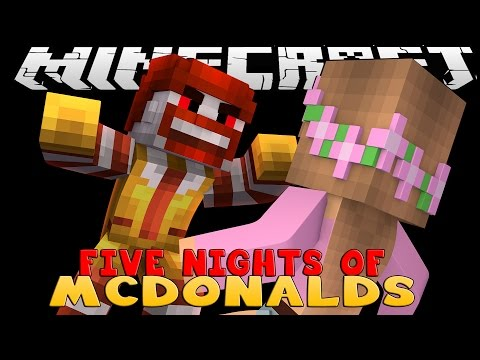 Minecraft - Little Kelly : FIVE NIGHTS AT EVIL MCDONALDS!