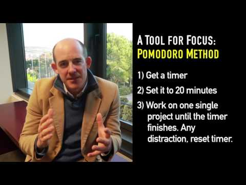 How to Focus and Get Important Stuff Done (Pomodoro Method)