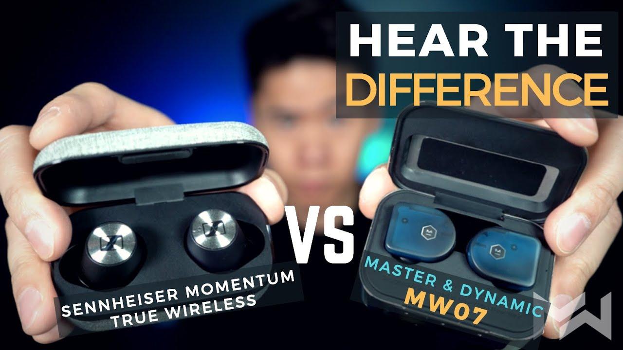 63d981eb166 Sennheiser Momentum True Wireless vs Master & Dynamic MW07 - Earbuds  Comparison Review