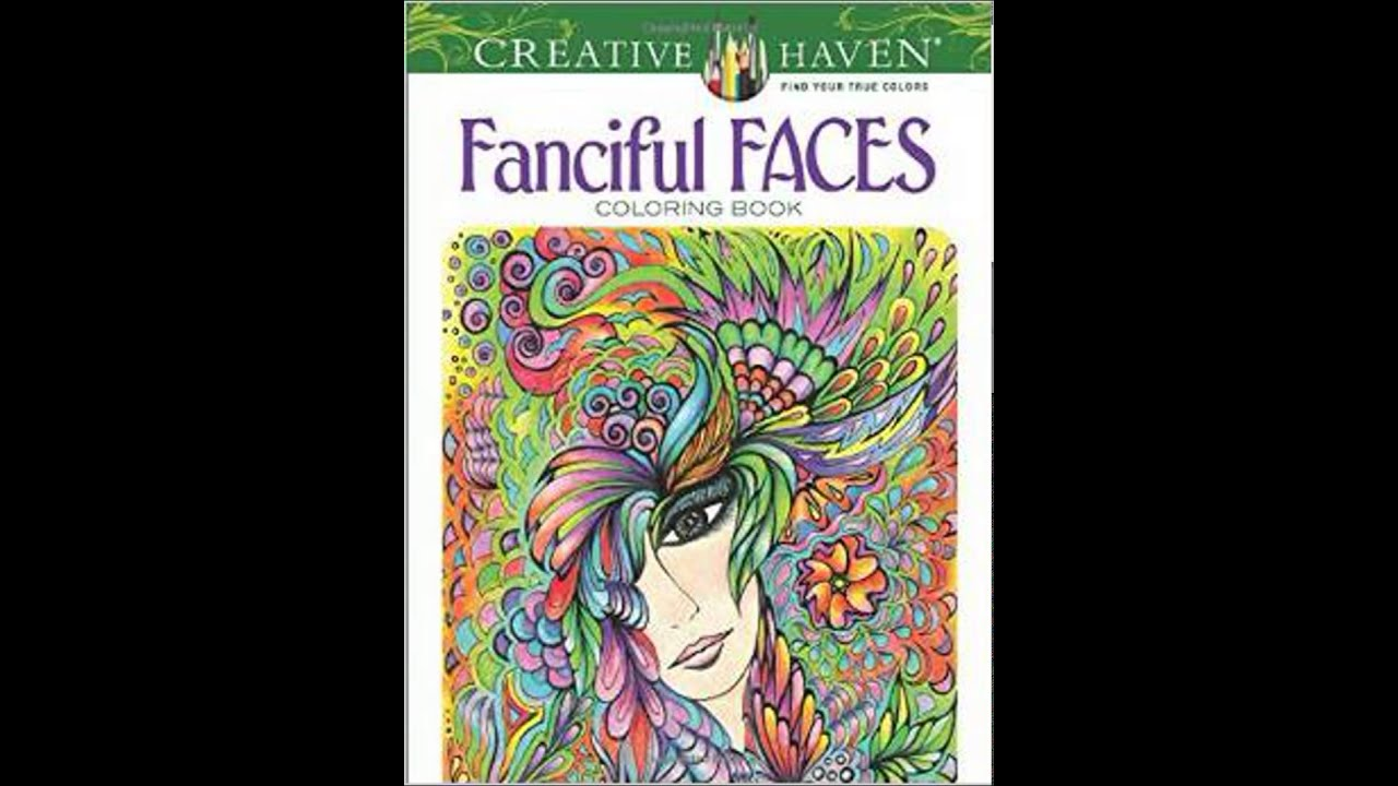 creative haven fanciful faces coloring book creative haven coloring books - Creative Haven Coloring Books