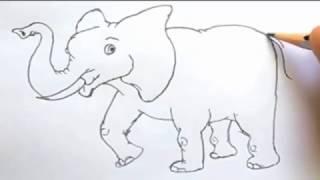 Cara Gampang Menggambar Gajah