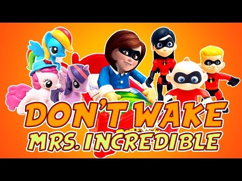 Incredibles 2 & My Little Pony Don't Wake Elastigirl Game! W/ Dash And Violet