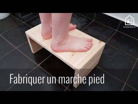 tutoriel fabriquer un marche pied en bois bricolage facile youtube. Black Bedroom Furniture Sets. Home Design Ideas