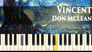 Don McLean - Vincent (Starry Starry Night) - Piano Tutorial