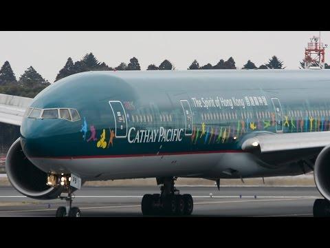 ✈✈The Spirit of Hong Kong キャセイパシフィック B-KPB Landing Narita RWY34R成田空港☆東雲の丘