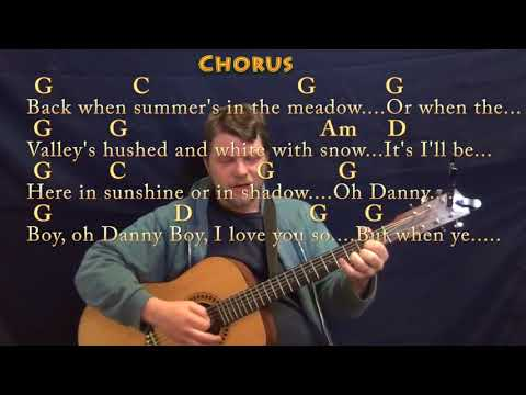 Danny Boy (Traditional) Strum Guitar Cover Lesson in G with Chords/Lyrics - Munson
