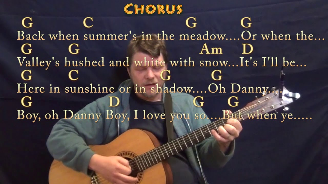 Danny Boy Traditional Strum Guitar Cover Lesson In G With Chords