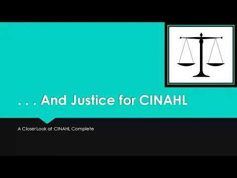 . . . And Justice for CINAHL