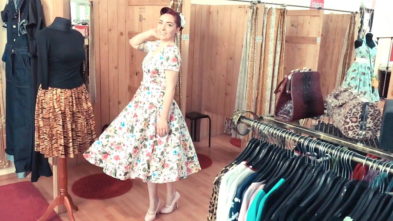 9e5d9e0cba36 Sophia im Collectif Maria Artistic Floral Swing Dress - YouTube