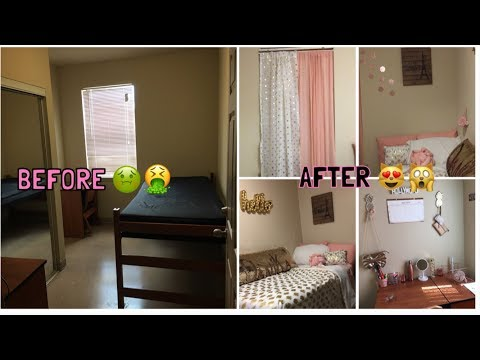 COLLEGE MOVE IN DAY | DORM ROOM MAKEOVER 😱