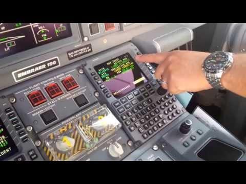 Embraer 190 TAME Cockpit preparation and mcdu set