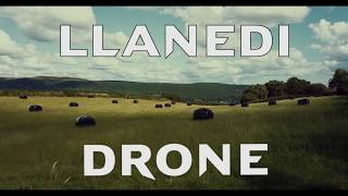 Drone flying over Llanedi - Carmarthenshire.