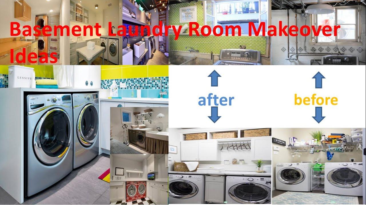 Basement Laundry Room Interior Makeover Design Idea
