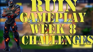 NEW Ruin skin Gameplay - Fortnite Week 8 Challenges & Discovery Skin - Fortnite Battle Royale