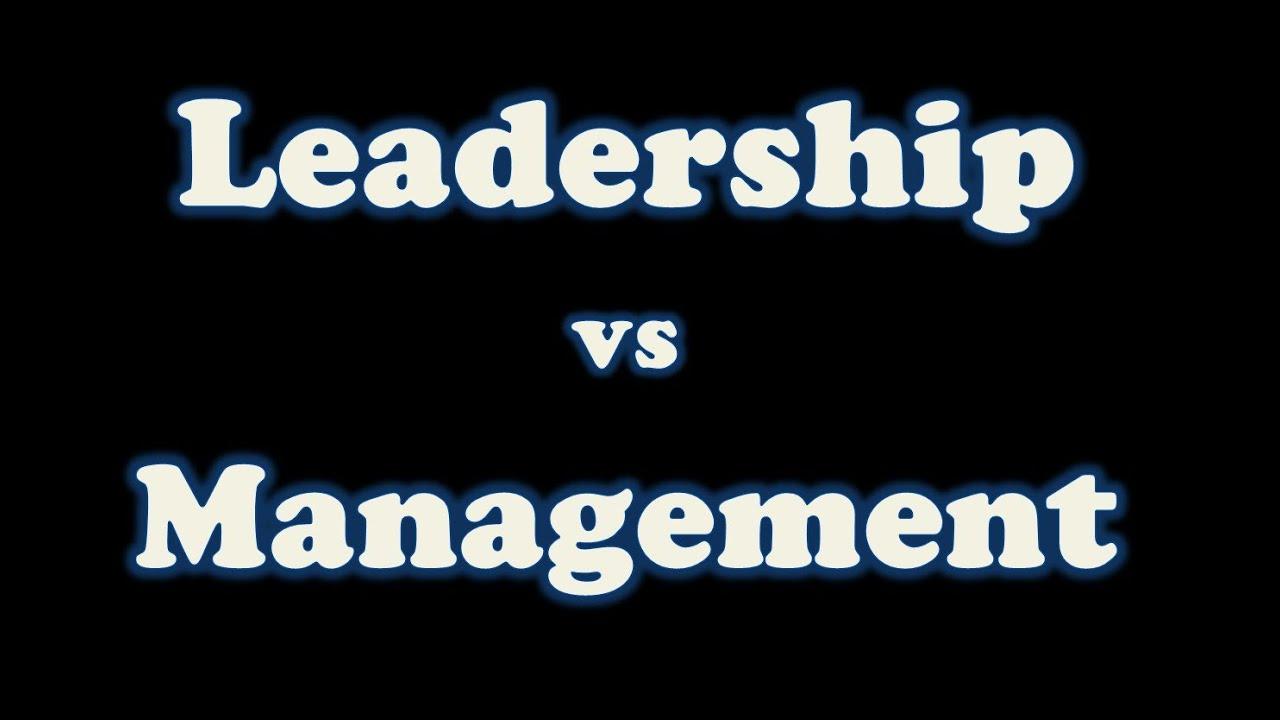 difference entre leadership et management pdf