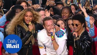Super Bowl halftime show: Coldplay, Beyonce and Bruno Mars - Daily Mail