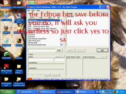 psx emulator cheater how to add codes