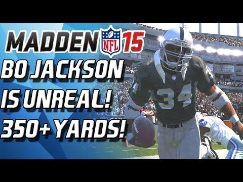 BO JACKSON IS UNHUMAN! INSANE RECORD BREAKING GAME! 350 YARDS! - Madden 15 Ultimate Team
