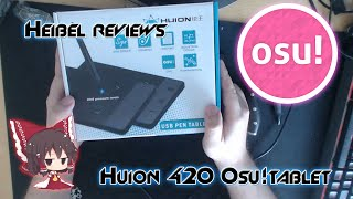 Huion 420 for osu! - Tablet review