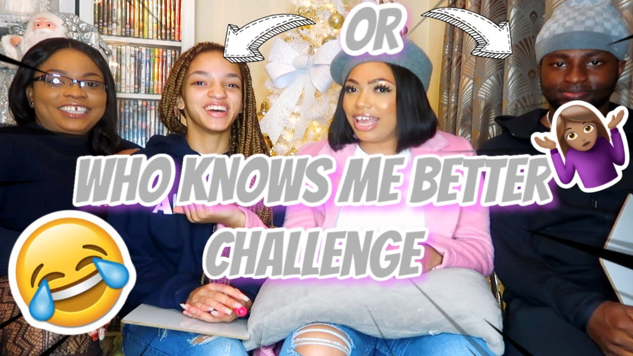 WHO KNOWS ME BETTER? MY MUM & SISTER OR MY BOYFRIEND?... you'd be surprised (extremely funny)