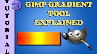 GIMP 2.8 Gradient Tool Explained - How To Make Custom Gradient In Gimp Tutorial