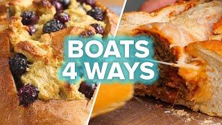 Bread Boats 4 Ways