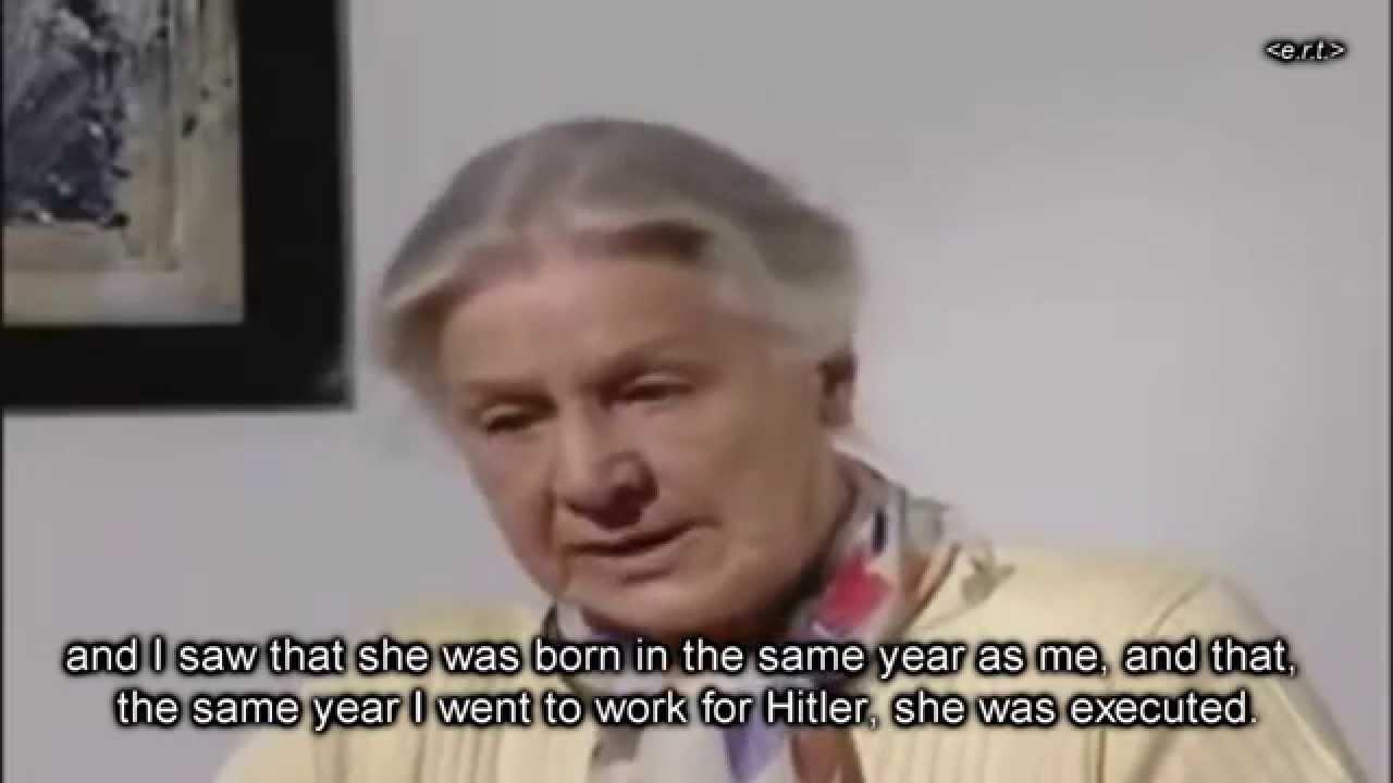 Hitler's secretary on personal responsibility (genuine ...