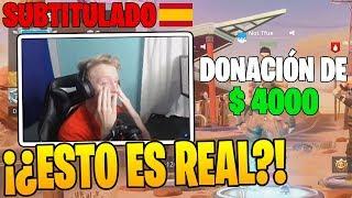 Tfue recibe una *DONACION* DE $4000 DOLARES POR ESTO!! - Momentos Divertidos en Fortnite thumbnail