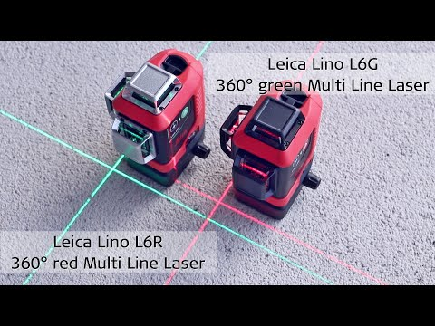 Leica Lino L6R & L6G - 3 x 360° green & red  Multi Line Laser