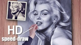 Speed Paint Marilyn Monroe how to draw AMAZING painting (realistic)