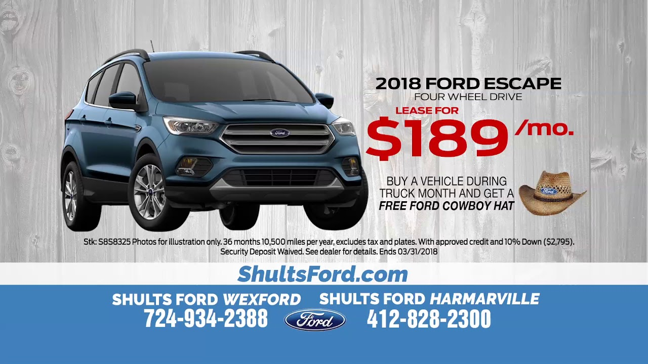 Ford Escape Lease >> Lease A 2018 Ford Escape For Just 189 A Month Youtube