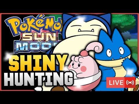 Pokémon Sun & Moon LIVE Shiny Hunting! Hunting For Shiny Munchlax, Snorlax & Happiny! w/ HDvee