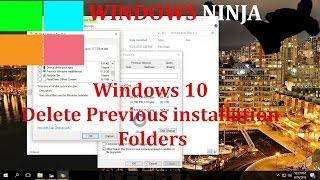 ويندوز 10 حذف التثبيت السابق المجلدات (Windows.القديمة و $ويندوز.~BT)